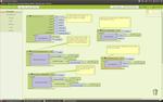 Bloques necesarios para la primera parte del tutorial, sobre como crear un juego de naves con App Inventor.