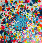 100cm x 100cm Acryl auf Leinwand 2018