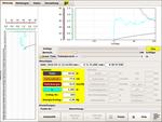 Erfassung der Daten beim Hämmern (Bildschirmfoto)