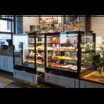 Vitrine boulangerie vitrage droit ouverture avant coté client Montpellier