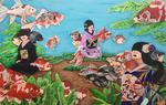 Aquarium living 91×116.7cm 2018