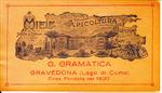 Un'antica etichetta dell'Apicoltura Gramatica di Gravedona del sec XIX