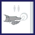Der Avotac Hygienehandschuh ist ein Muss für öffentliche Toiletten