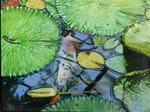 Koi Karpfen (2018), Öl auf Leinwand 120 x 90 cm