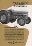 Prospektblatt in zwei Versionen mit verschiedenen Rückseiten