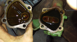 Verschlussdeckel mit Einstellschraube abgenommen