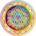Flower of Life Window Sticker light