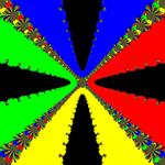 Basins of Attraction z^4-1=0, King-Verfahren, beta=-2.1, B=[-10, 10]x[-10, 10]