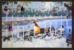 Popham Beach, Collage auf Leinwand, 100 cm x 120 cm, 2019