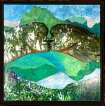 Calm is a power II, Collage auf Leinwand, 100 cm x 100 cm, 2019
