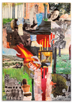 THIS GIRL IS ON FIRE,  Collage auf Leinwand 70 cm x 100 cm