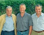 von links: Johann, Boris und Alfred Pertler