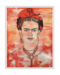 'First day with Frida Kahlo' Formaat (bxhxd): 70x90x2
