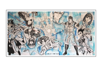'Anime Explosion in Blue' Size: 200x100x2