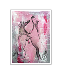'Horses are beautiful #1' Formaat (bxhxd): 60x80x2