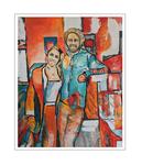 'Lars and Sanne' Formaat (bxhxd): 80x100x2