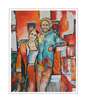 'Lars and Sanne' Size: 80x100x2
