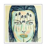 'Hiding behind my hands #4' Formaat (bxhxd): 100x100x2