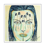 'Hiding behind my hands #4' Size: 100x100x2