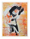 'Famous kisses #3 Kissing Sailor' Formaat (bxhxd): 60x80x2