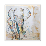 'Elephants are beautiful #1' Formaat (bxhxd): 100x100x2