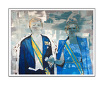 'First day with King Willem-Alexander and Queen Maxima of the Netherlands' Formaat (bxhxd): 124x104x5