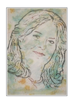 'Portrait Irene' Formaat (bxhxd): 80x120x3