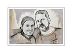 'Barbara and René' Size: 60x40x2