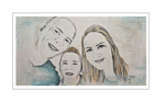 'Ashley and her happy family' Size: 150x80x2