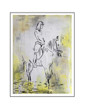 'She and the horse #1' Formaat (bxhxd): 60x80x2