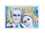 'First day with King and Queen of Iran' Size: 40x60x2