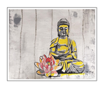 'Be my Buddah #1' Formaat (bxhxd): 120x100x3