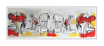 'First day with Picasso' Size: 180x60x5