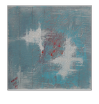 'Touch my blueness #1' Size: 60x60x3