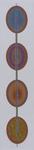 Vier Spiegel 35X150 cm