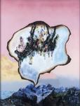 La montagne pense II - huile sous verre - 153 x 115 cm - 1999