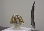 Vue d'exposition - Richard Fauguet (tête aux couteaux) - Daniel Schlier (Congre) - Frac Poitou-Charentes, Angoulême - 2015