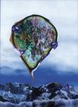 La montagne pense IV - huile sous verre -  1999 - musée-château d'Annecy