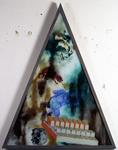 Les sept péchés capitaux - gourmandise - 165 x 128 cm - huile sous verre - 1996