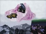 La montagne pense VIII - huile sous verre - 95 x 125 cm - 1999