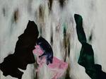 Essen, viel essen - huile, acryl et cheveux sur dibond - 45 x 59,5 cm - n°9/2012