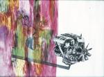 Composition avec vanité et moteur, diptyque avec Composition avec architecture - huile sous verre - 115 x 154 cm - 1998