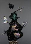 Maternité (gris) - huile sous verre - 175 x 125 cm - 1995