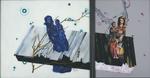 Diptyque (l'ivoire) - huile sous verre - 147 x 167 cm et 147 x 108 cm (total 275 x 147 cm) - 1997
