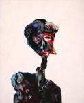 Figure (rose) - pastel et acryl sur toile - 90 x 70 cm - 2004