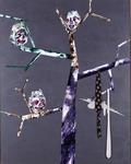 Inakalé II - technique mixte sur aluminium, punaises, mouchoirs - 230 x 180 cm - 2002 - FRAC Aquitaine