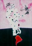 Danseurs (sur Amérique du Sud) - huile sous verre - 175 x 125 cm - 1990 - Musée d'art moderne et contemporain Strasbourg