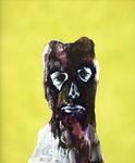 Figure (jaune) - pastel et acryl sur toile - 90 x 70 cm - 2004
