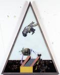 Les sept péchés capitaux - jalousie - 165 x 128 cm - huile sous verre - 1996