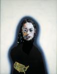 Portrait mondain I avec USA - huile sous verre - 90x70 cm - n°12/2000